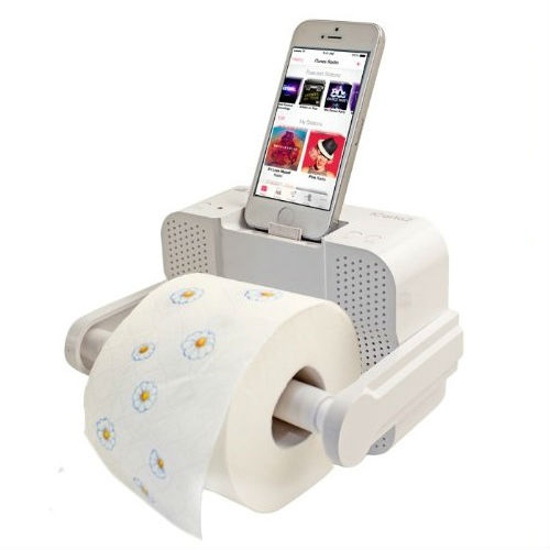 bluetooth toilet paper holder