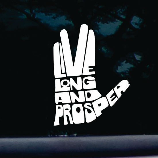 live long and prosper vulcan hand decal