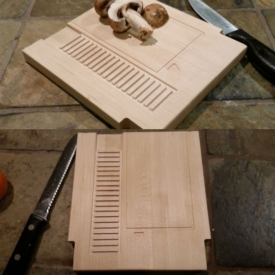 nintendo cartridge cutting board