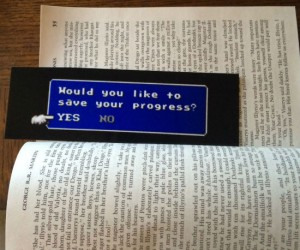Save your progress bookmark – Bring some old school video game cool to your modern day book reading!