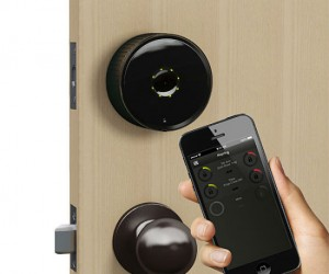 Control your door lock straight from your smartphone!  Just don't lose your smartphone or you'll be locked out of your house forever!