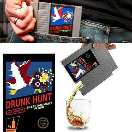 nintendo cartridge flask