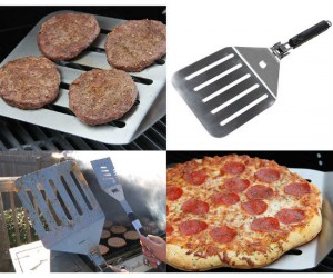 Flip four times the burgers at a time, perfect for a large summer family gathering!