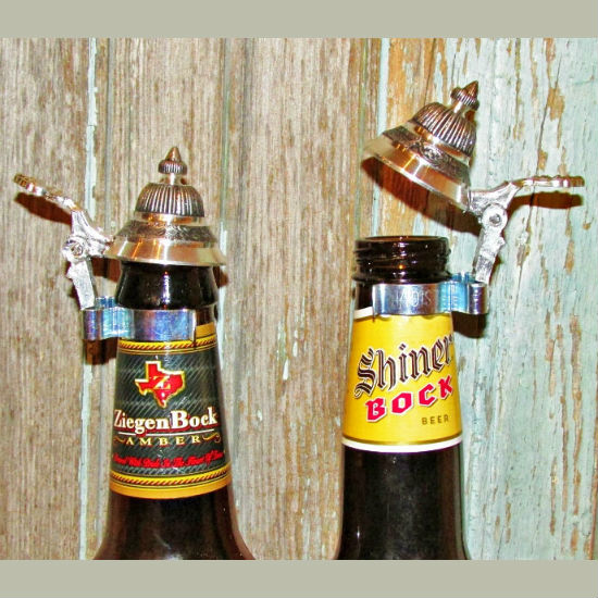 beer bottle beer stein attachment