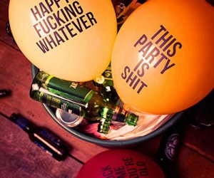 Pack of 12 brutally honest abusive balloons… Use them to put a downer on someone's (or even your own) big day!