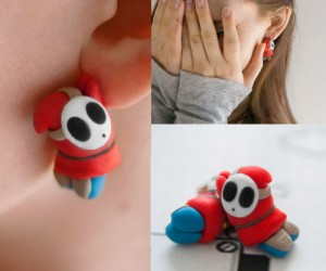 Who wouldn't like a couple of Shy Guys hanging from their ears?