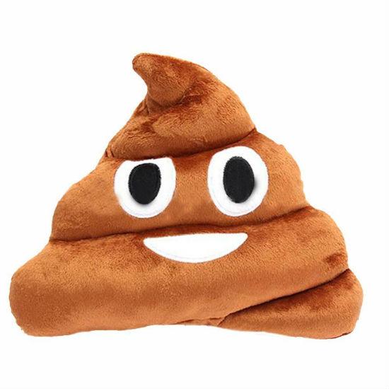 emoji poop pillow