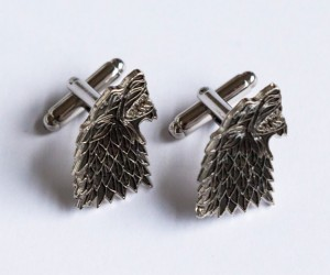 Game of Thrones House Stark Cufflinks -Brace yourself a wedding is coming… (hopefully it's not red)