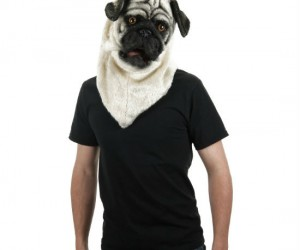 This pugtastic mask has mesh eyes and a moveable jaw!