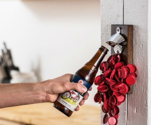 No more dropped bottle caps when you've got a magnetic bottle opener!