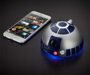 R2D2 Bluetooth Speaker – It's a Star Wars blasters! (Because it can blast your music)