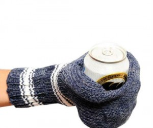 The beer mitt keeps your hand warm and your beer cold.