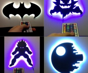 There's nothing cooler than having an LED Death Star or Bat Signal hanging above your bed.