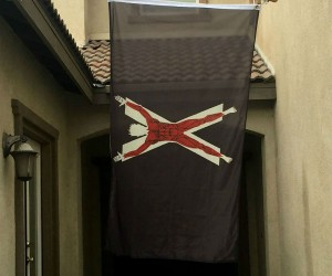 """GoT House Bolton Flayed Man Banner Flag – """"Our blades are sharp"""""""