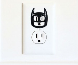 Time to turn a once boring electric outlet into the caped crusader and Dark Knight of Gotham!