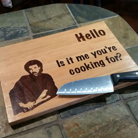 Lionel Richie Parody Cutting Board Shut Up And Take My Money