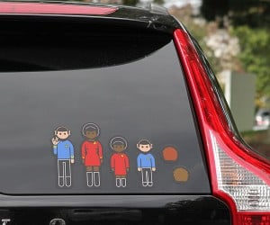 Star Trek Family Decals – Registering several lifeforms, Sir