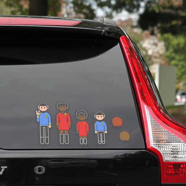 star trek family decals