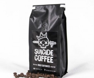 Suicide Coffee Highly Caffeinated Coffee not recommended for children, pregnant women, or sissies.