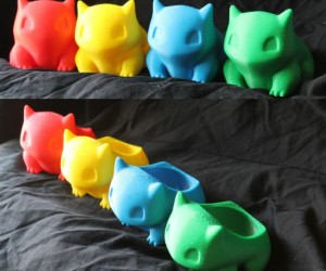 3d Printed Bulbasaur Planters – Bring some life into your room, work space, or front porch with these cute and colorful Bulbasaur planters!