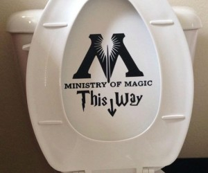 Ministry of Magic Toilet Decal – For official Wizarding business use only.