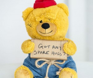 Hobo Teddy Bear – Got any spare hugs?