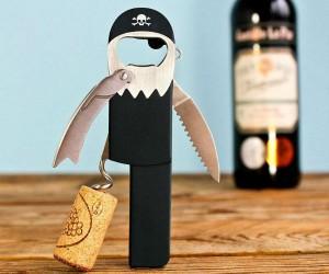Pirate Corkscrew Bottle Opener –Bottle opener designed to look like a peg-legged pirate