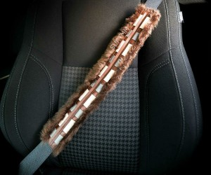 Chewbacca Seatbelt Cover – IT'S A STRAP! – Measuring approximately 20 inches and made from real authentic wookiee fur!