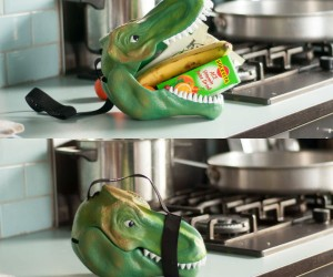 Dinosaur Head Lunch Box – Round up all your ROAR-some stuff!