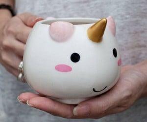 Makes your mornings extra magical with this super kawaii unicorn mug!
