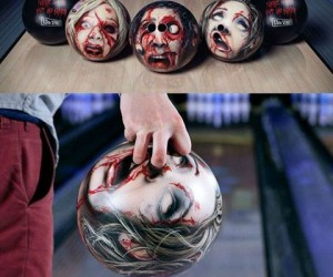 Zombie Bowling Ball – Leave a few pins standing? Pull out your Zombie Spare. Unlike the human undead this Zombie is easy to control.