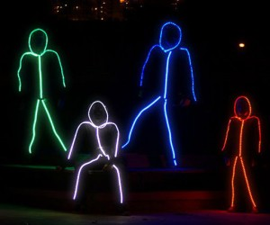 Light up stick figure Halloween costumes!