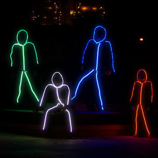 light up stick figure halloween costume