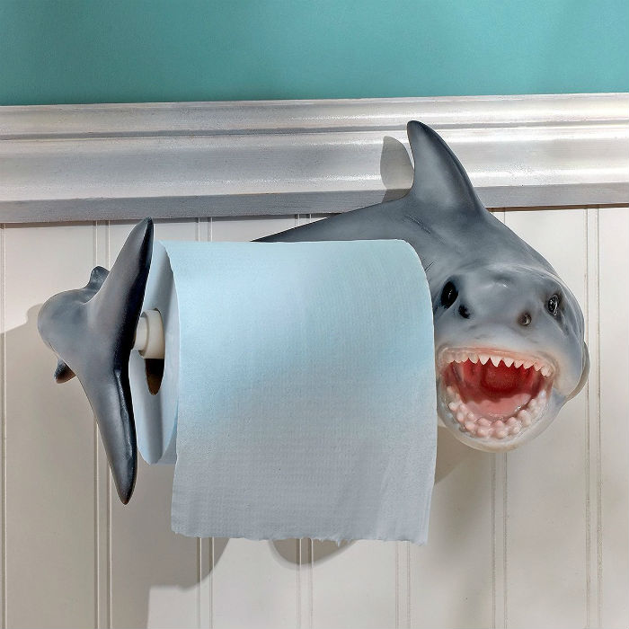 shark toilet paper holder