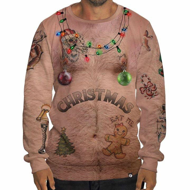 ugly christmas chest sweater