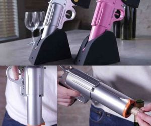 Wine gun bottle opener!