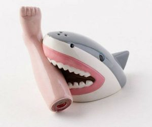 Magnetic Shark Salt and Pepper Shakers