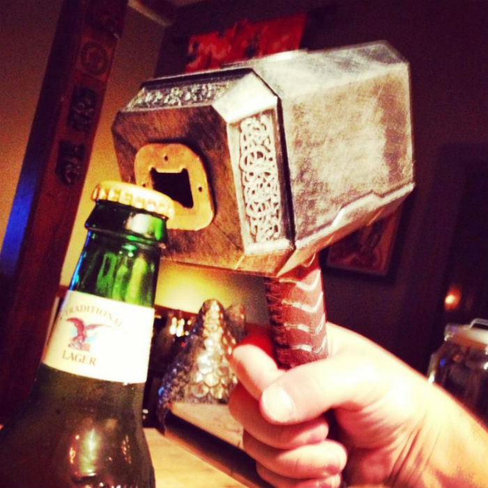 thor hammer bottle opener