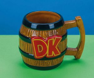 Nintendo Donkey Kong Barrel Shaped Mug – The perfect accompaniment to your next mid-game coffee break.