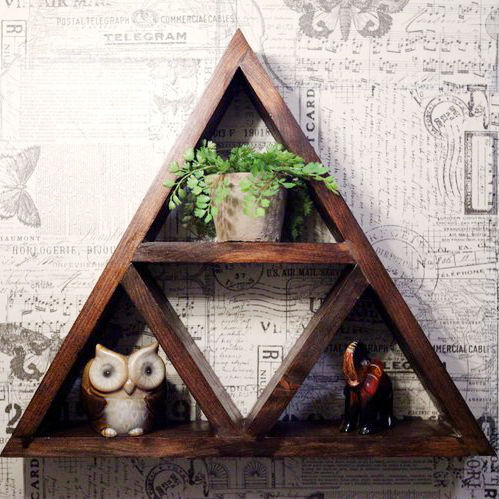 zelda triforce shelf