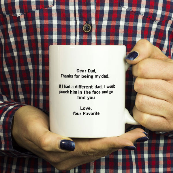 dear dad fathers day mug