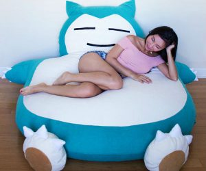 Giant Snorlax Pokemon Bean Bag – Chillin on Snorlax's giant belly has never been more comfortable!