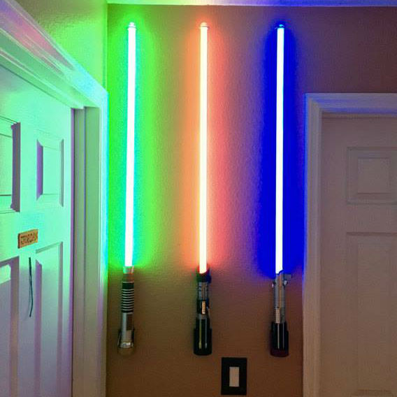 lightsaber wall mounts