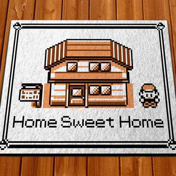 pokemon home sweet home doormat