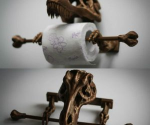 T-Rex Toilet Paper Holder – This prehistoric potty accessory is sure to turn heads