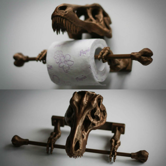t-rex toilet paper holder
