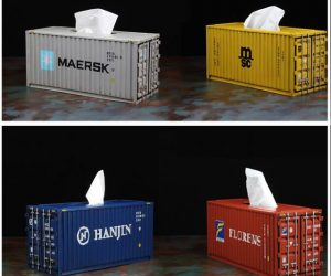 Cargo Container Tissue Box Cover.