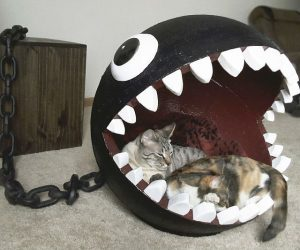 Nintendo Chain Chomp Cat Bed – Don't worry Chain Chomps only attack Mario not cats.