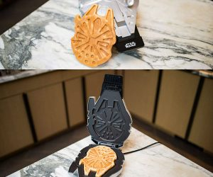 Star Wars Deluxe Millennium Falcon Waffle Maker – It's tasty, delicious, and can make the Kessel Run in less than twelve parsecs. Serve up replicas of the Millennium Falcon in