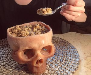 Skull Cereal Bowl – Pretending to eat cereal out of the skull of your enemy has never been easier!
